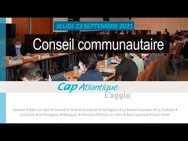 Conseil communautaire du 23 septembre 2021