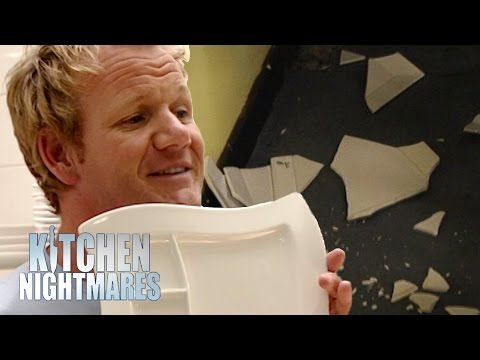 Frustrated Gordon Smashes Chef's Favourite Plates | Kitchen Nightmares