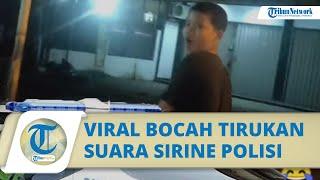 VIRAL Video Bocah SMP Menirukan Suara Sirine Mobil Patwal: Dulu Sering Dengar Suara Mobil Polisi