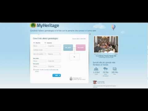 Come creare l' albero genealogico della famiglia con MyHeritage