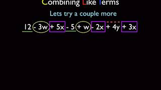 Integrated Math 1 IM1 Algebra - Using The Distributive Property And Combining Like Terms Part 1