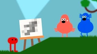 Why Games Shouldn't Let Me Draw Stuff - Pikuniku (First Look Gameplay) - Let's Game It Out