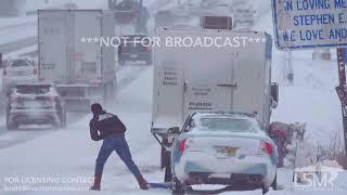 02-15-19 Kansas City,  MO heavy snow B-roll and drone