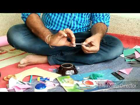Teaching Art and Craft to 100 children in India