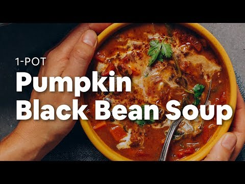 1-Pot Pumpkin Black Bean Soup   Minimalist Baker Recipes