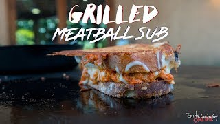 Grilled Cheesy Meatball Sub Sandwich   SAM THE COOKING GUY