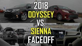 2018 Honda Odyssey EX-L vs. 2018 Toyota Sienna XLE: Faceoff Comparison