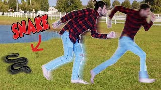 EPIC SNAKE PRANK ON HUSBAND!!! *Franklin Saves The Day*