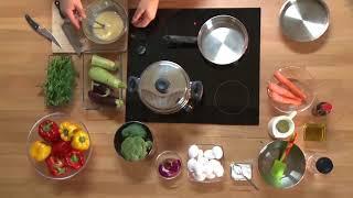 Готовим дома: скрэмбл с овощами #icookрецепты