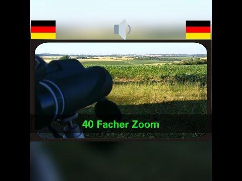 Handy Objektiv 40x Zoom (40 facher Zoom) Landschaft am Mittag