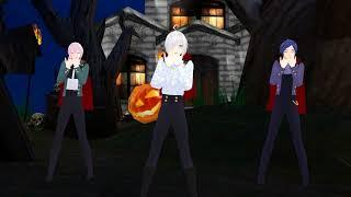 【MMD】 Happy Halloween【Piko, Roro, And Kaito】