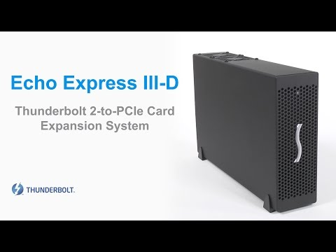 Sonnet Echo Express III-D Thunderbolt 2-to-PCIe Card Expansion Chassis Product Overview