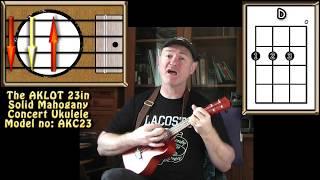 I'm Yours - Jason Mraz - Ukulele Lesson & AKLOT AKC23 Review
