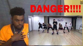 방탄소년단 'Danger' dance practice REACTION!!