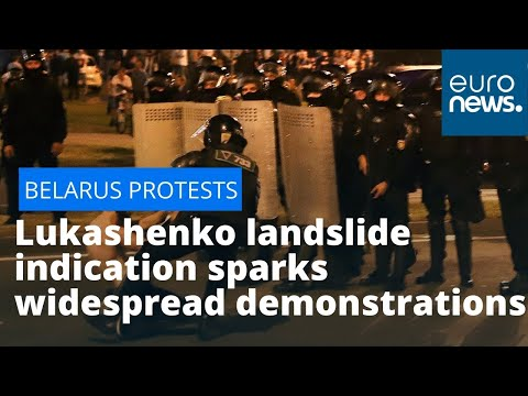 Belarus election protests: Lukashenko landslide victory sparks widespread demonstrations