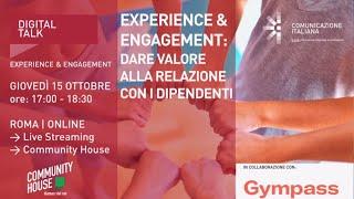 Youtube: Experience & Engagement: Dare valore alla relazione con i dipendenti | Digital Talk | Gympass