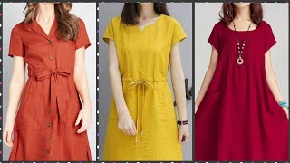 Most Trending Plain Knee Length Skater Dresses For Working Women 2020