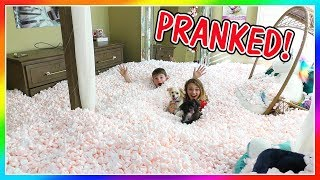 THE ULTIMATE PACKING PEANUT PRANK! | How do the kids react? | We Are The Davises