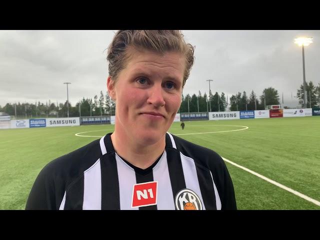 Katrín: Hún kláraði frábærlega eftir frábæra sendingu frá mér