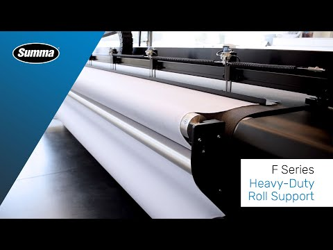 Summa Heavy-Duty Roll Support for use large-format F Series flatbed cutters