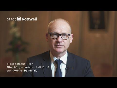 Videobotschaft von Oberbürgermeister Ralf Broß zur Corona-Pandemie