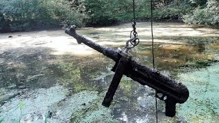 Magnet fishing WW2. Finding submachine gun MP40.