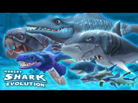 ALL SHARKS, GAMEPLAY MONTAGE Hungry Shark Evolution | HD