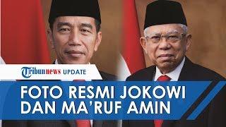 Foto Resmi Jokowi dan Maruf Amin Dirilis Jelang Pelantikan, Senyum Tipis Keduanya Diumbar