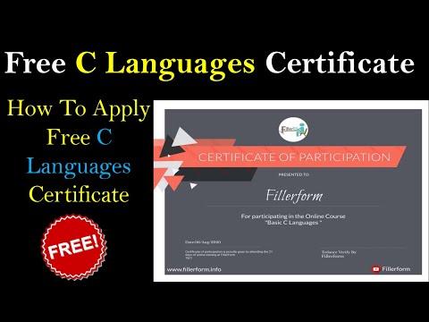 Free C Language Certificate   Free C Language Course in Hindi   C Language Tutorial in Hindi