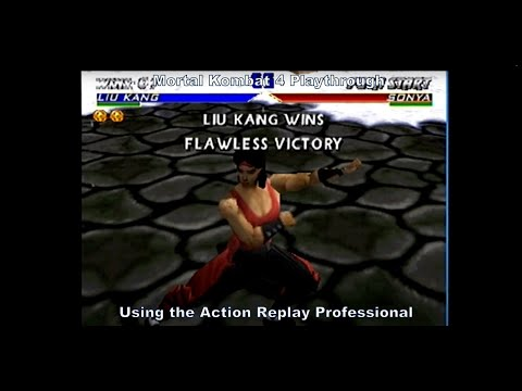 Mortal Kombat 4 Liu Kang Playthrough using the Action Replay Professional for N64 :D