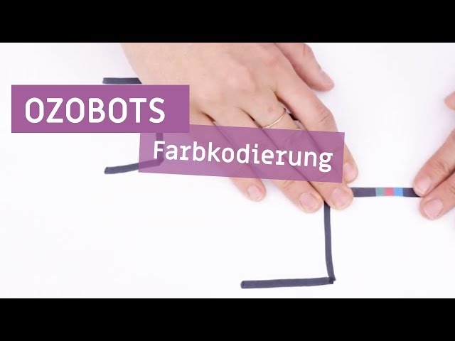 Ozobots - Farbkodierung