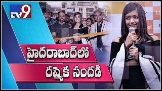 Actress Rashmika Mandanna launches new Happi mobile showroom in Hyderabad - TV9