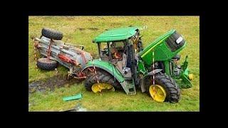 Аварии и спасения тяжелой техники Тракторы выходят из под контроля!