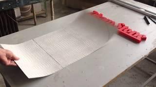 Белая кожа крокодила. Рельефные, тонкие и гибкие стеновые панели. от компании ООО Зикам - видео