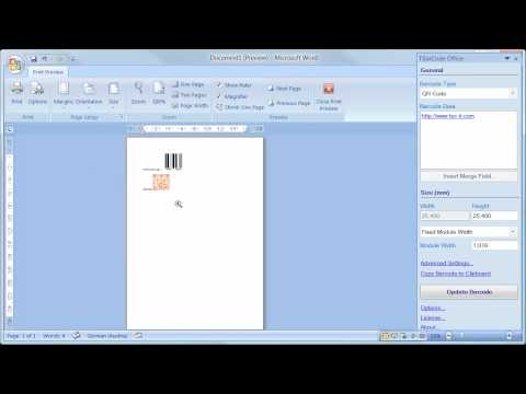 Barcode Add-In for Microsoft Word (All Versions)