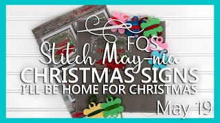 FQS Stitch Maynia 2019 | May 19 | Fat Quarter Shop | Christmas Signs By Tiny Modernist Cross Stitch