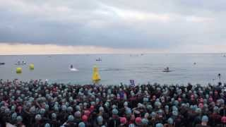 preview picture of video 'Ironman France-Nice 2013 Swim Start'