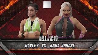 WWE 2K17: Hell In A Cell 2016 Predictions - Bayley vs Dana Brooke