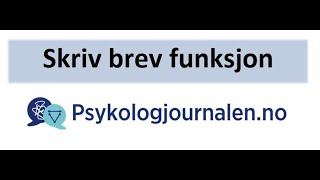 Psykologjournalen.no skriv brev funksjon