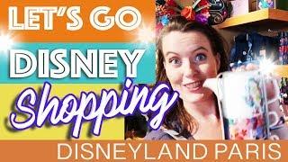DISNEYLAND PARIS SHOPPING! * Disney Mugs * Clothing * Christmas * Pins * And More!