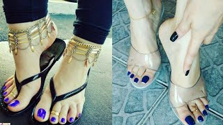 Most Beautiful And Eye-catching Women Feet Jewelry Of Stylish Toe Rings Designs And Ideas 2020