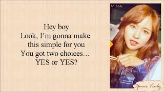 TWICE (트와이스)   YES Or YES (Easy Lyrics)