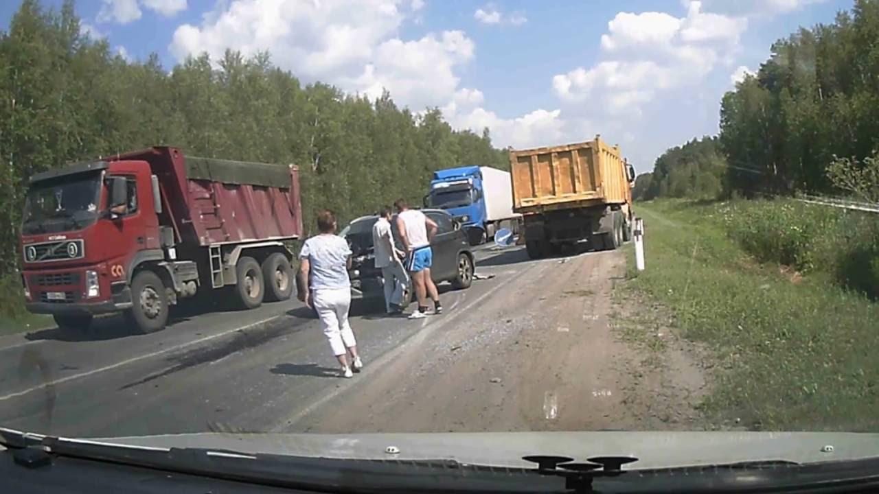 Массовое ДТП на трассе Курган - Тюмень