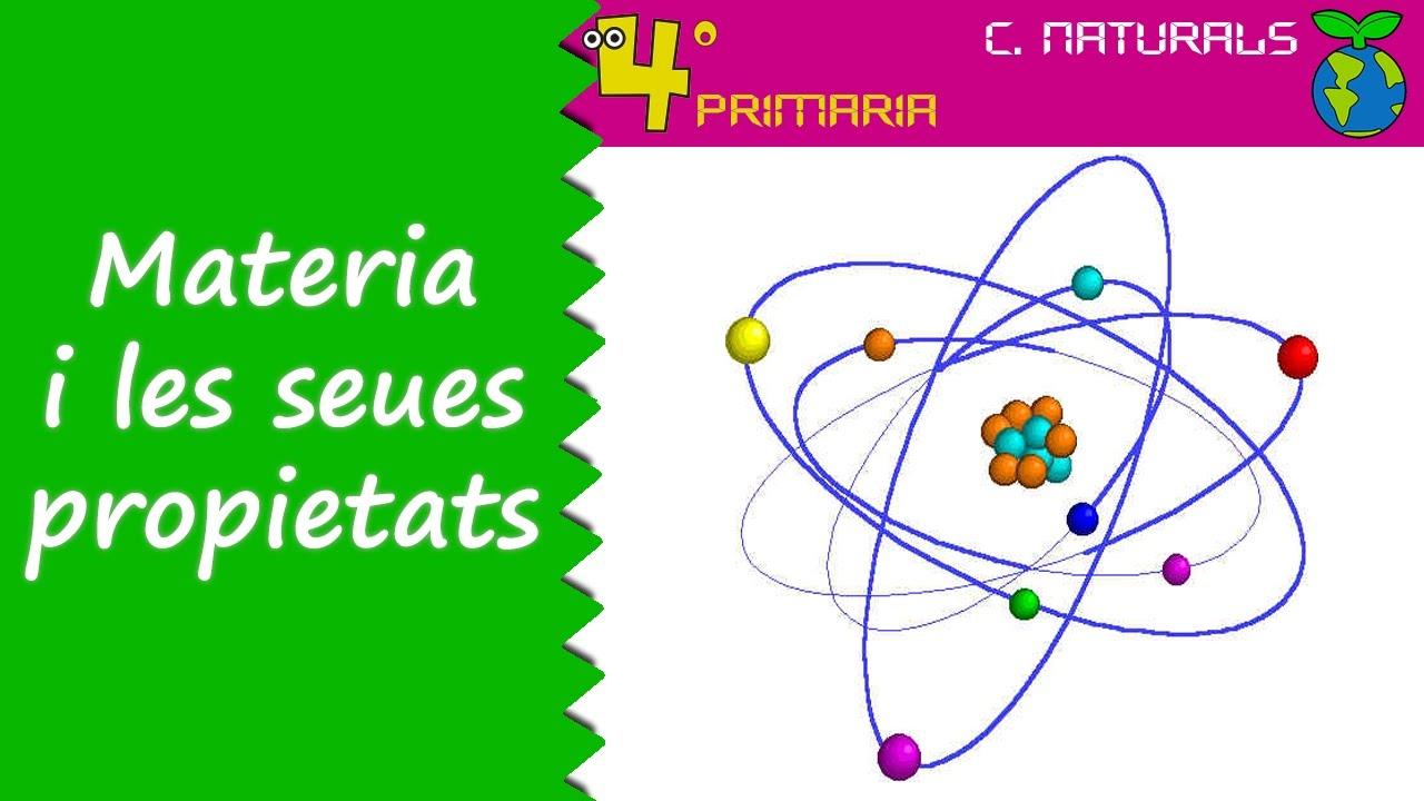 Ciències de la Naturalesa. 4t Primària. Tema 6. La matèria i les seues propietats