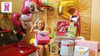 Подарки на День рождения МНОГО ИГРУШЕК Машина Замок для принцесс Кукла Пони РАСПАКОВКА