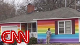 Rainbow house gets revenge on neighbors