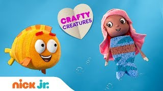 How To Make 'Molly From Bubble Guppies | Stay Home #WithMe | Arts + Crafts | Nick Jr.