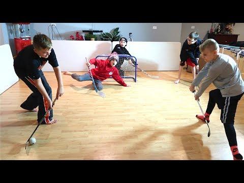 Kids HocKey - Knee Hockey Penalty Shot Shoutouts First to 3 Wins