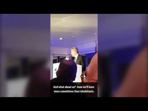 Rede von EU-Kommissar Günther Oettinger am 26. Oktober 2016 in Hamburg.