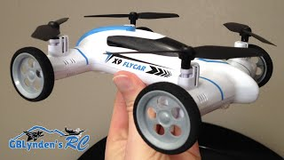 Syma X9 Flying Car Quadcopter Drone Unboxing, Maiden Flight & Drive, and Review